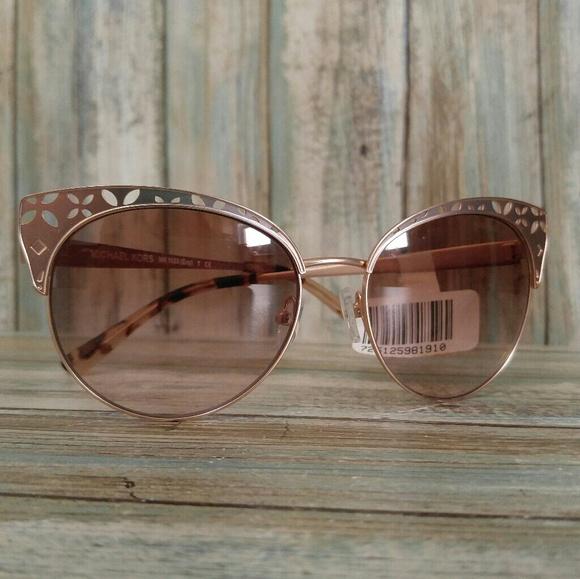 aea158198cc Michael Kors Rose Gold Evy Sunglasses